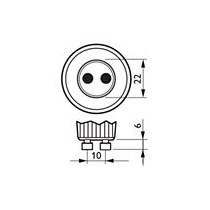Philips MASTER LED spot MV D 5.5-50W GU10 830 40D