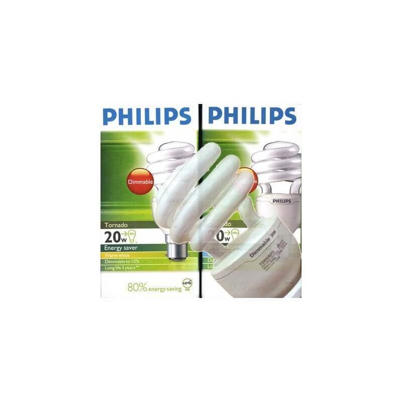 Philips Tornado esaver dimmable sur variateur E27 20w