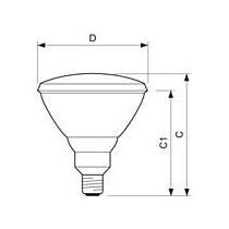 PHILIPS lampe infra rouge PAR 38E 150W