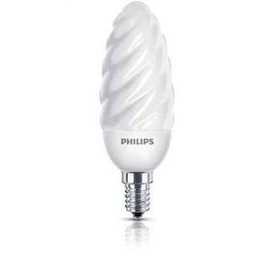 Philips flamme torsadée 8W WW E14 220-240V
