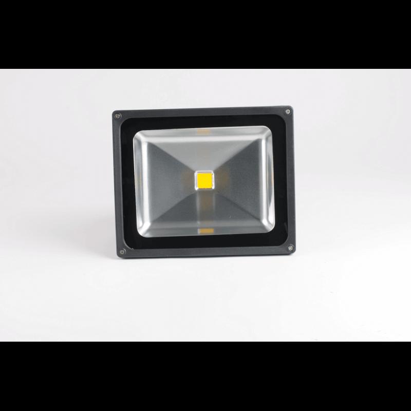 projecteur led 50w blanc 3000k exterieur gris kfms clairage. Black Bedroom Furniture Sets. Home Design Ideas