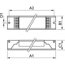 Ballast Philips HF-Ri TD 4 14/24 TL5 E+ 195-240V 50/60Hz