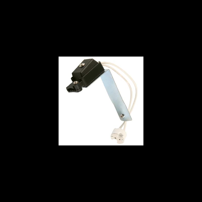 Douille ceramique pour lampe a culot G5.3 avec support
