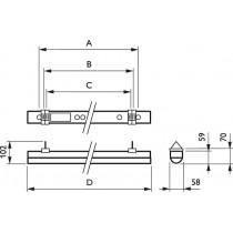 PHILIPS Coreline Batten BN120C LED38S / 830 PSU L1200