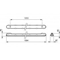 PHILIPS Coreline etanche WT120C LED60S/840 PSU L1500