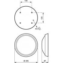 Philips GONDOLA  FWG211 1xPL-C/4P26W HF WH