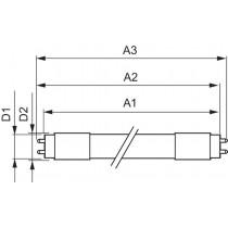 Philips MASTER LEDtube VLE 600mm 10W865 T8C ROT