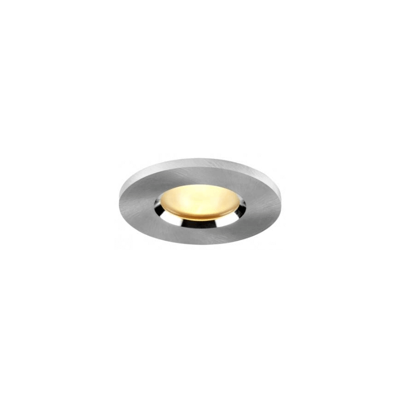 Spot encastrable rond fixe en aluminium poli pour lampes GU10 et Gu5.3