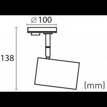 Projecteur GU10 35W 1 circuit pour rail C1/CR