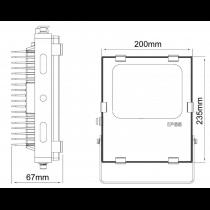 Projecteur LED 30W 230V IP65