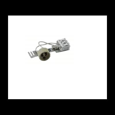 Douille céramique pour lampe a culot GU10 avec connecteur