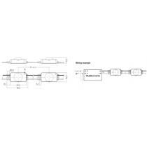 Chaine de 100 modules BLEU IP68 CRYSTAL SELECT P550-SEL TRIDONIC