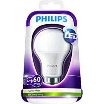 Philips LED 6W- 40W B22 BLANC CHAUD 230V A60M ND