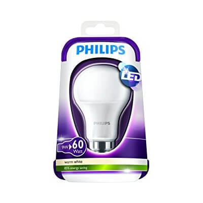 Philips LED 6W- 40W B22 BLANC CHAUD 230V A60 ND