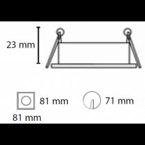 Spot à encastrer carré orientable blanc pour lampe GU10 et Gu5.3