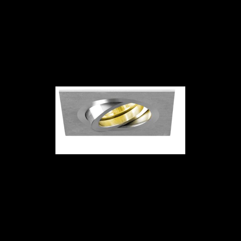 spot encastrable carr alu bross orientable gu5 3. Black Bedroom Furniture Sets. Home Design Ideas