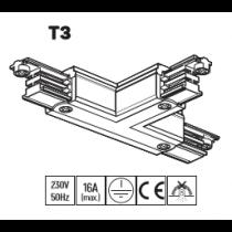 Connecteur en T pour rail triphasé