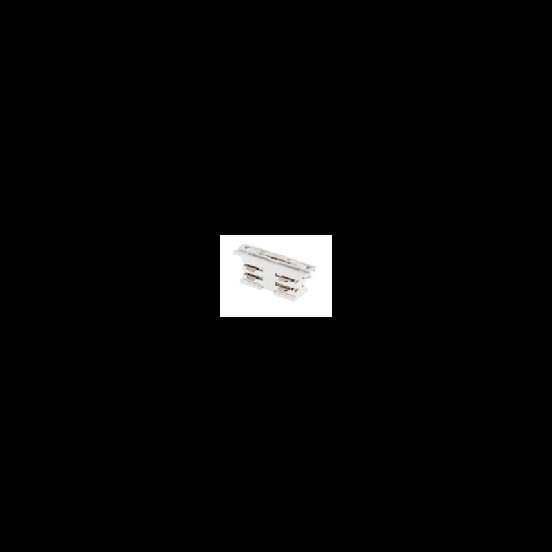 Union invisible pour rail triphasé, blanc ou noir