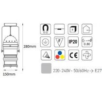 Projecteur pour lampes Par20 75w avec porte filtre