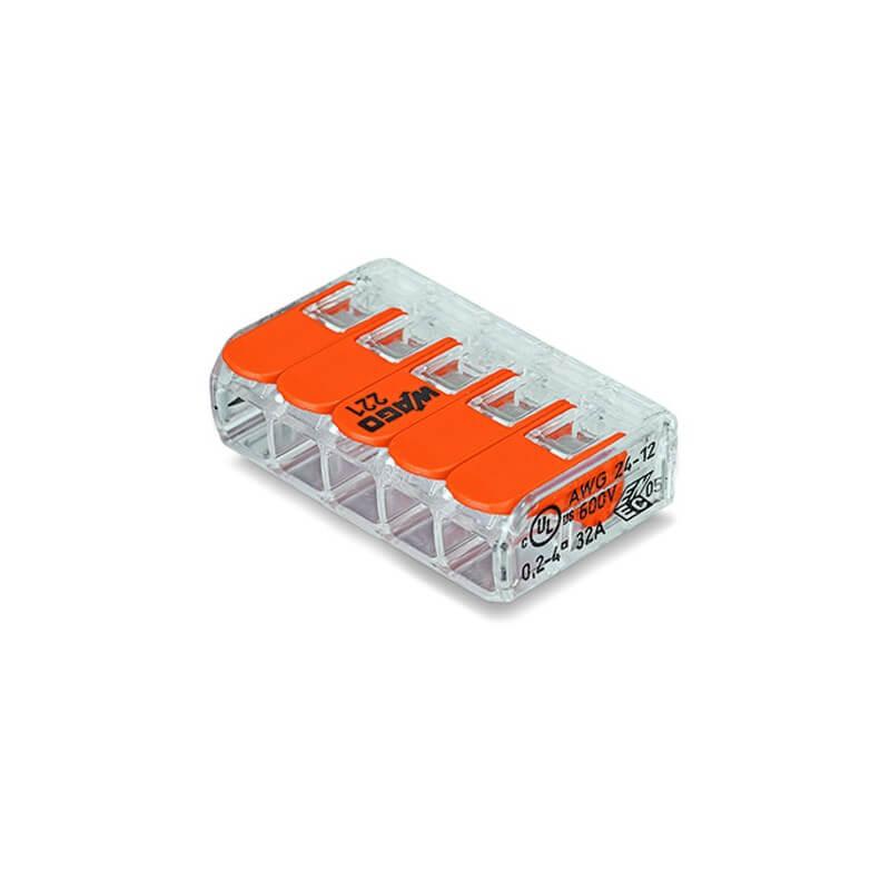 25 WAGO bornes de connection 5 entrées, 221-415 file souple à rigide