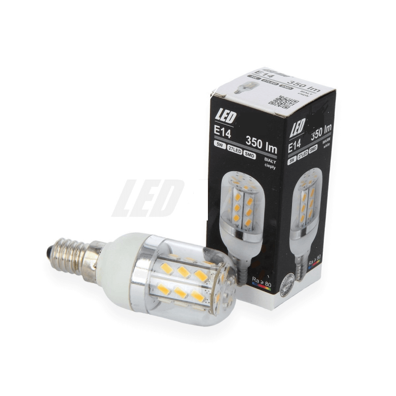 Led Tubulaire 5W Blanc chaud 2700k E14 350lm