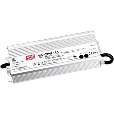Alimentation LED MeanWell HLG 264w 12v 22A Etanche IP65