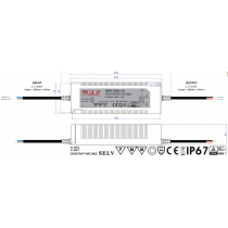Driver LED GPV-200-12 192W 12Vdc