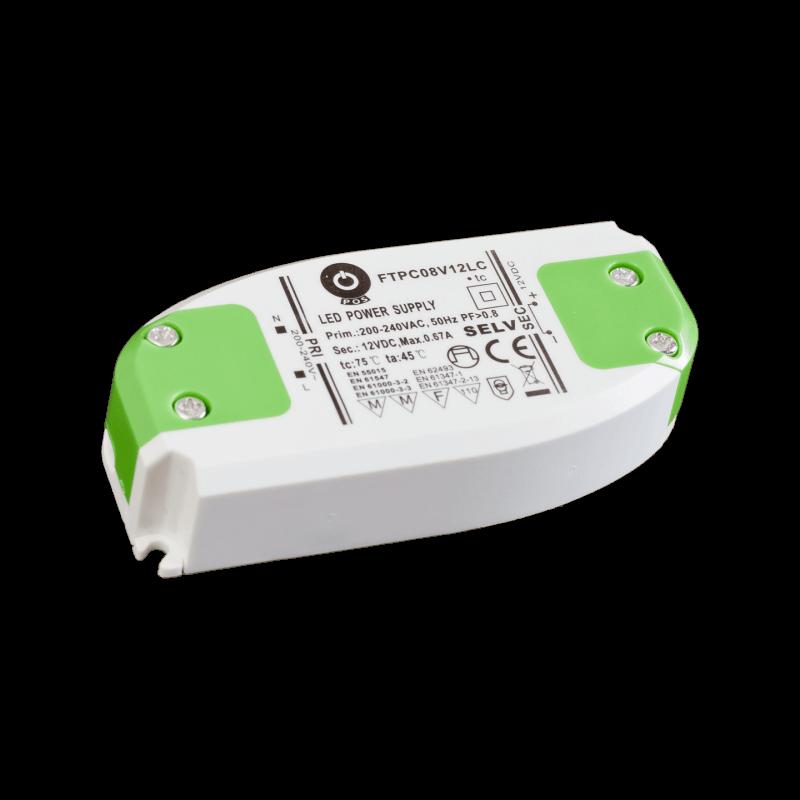DRIVER LED FTPC8V12 8W 12V 0.67A IP20