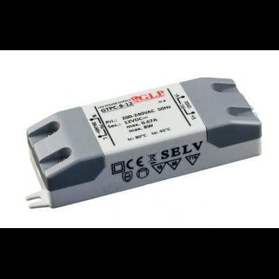 Alimentation LED GTPC 8W 12V 0.67A