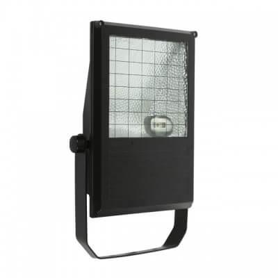 Projecteur Iodure exterieur noir 150w  IP65 avec lampe Osram NDL blanc brillant ou blanc chaud