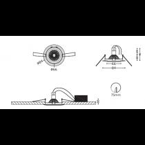 Kit spot Led Blanc Osram 4.6-50w/ 827 GU10 230V Dimmable