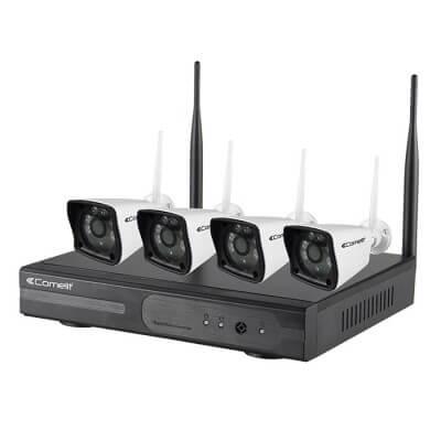 WIKIT040A-KIT 1 Enregistreur vidéo WIFI + 4 caméras