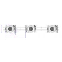 Chaîne de 30 modules 1.44W/M White 6000k 12V Etanche IP67