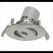 Spot orientable Led intégrée Alu Brossé 4.2-35w IP23
