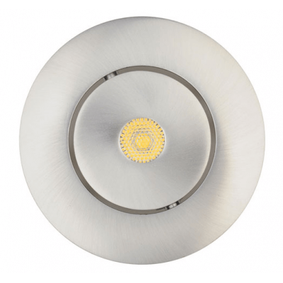Spot orientable Led intégrée Alu Brossé 7 substitut 50w IP23