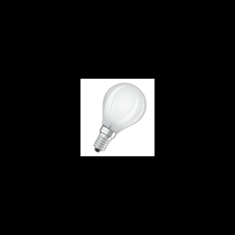 Ampoule LED Osram Sphérique P45 4w substitut 40w 470 lumens blanc chaud 2700k E14