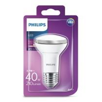Ampoule LED PHILIPS Réflecteur R63 2.7w substitut 40w 210 lumens Blanc chaud 2700K E27