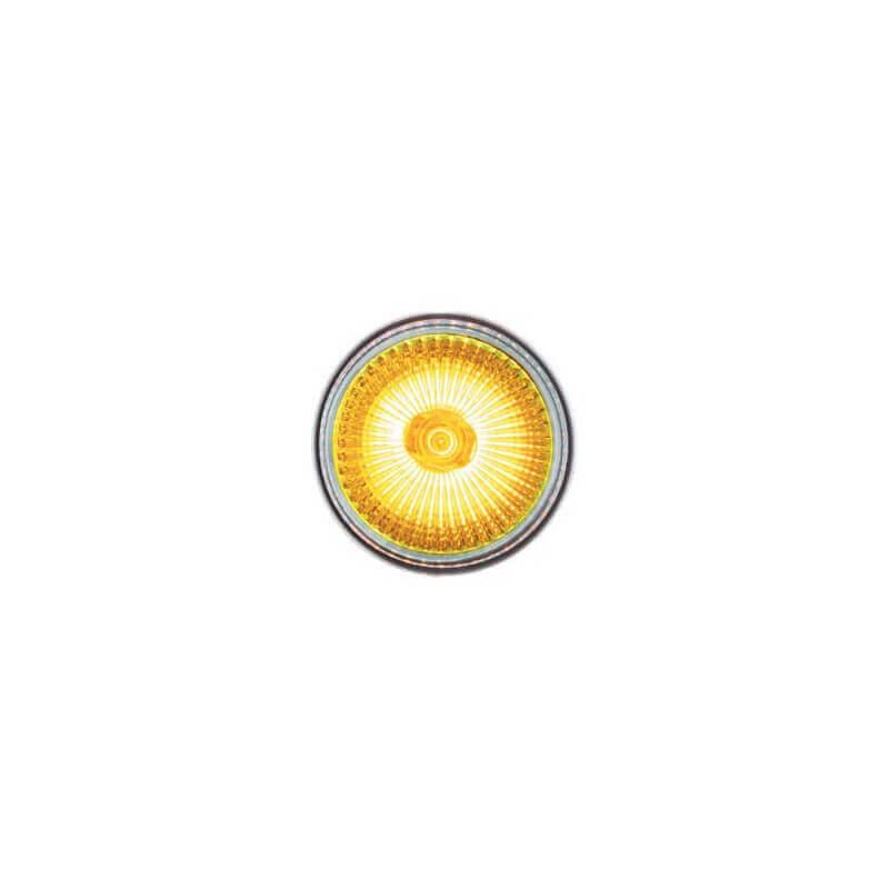 Lampe halogene dichroique 12v 50w GU5.3 jaune x2
