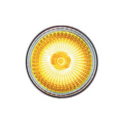 Lampe halogène JAUNE dichroïque 12v 50w GU5.3  x2