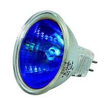 Lampe halogene dichroique 12v 35w GU5.3 bleu x2