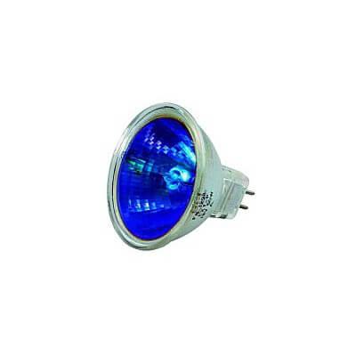 Lampe halogene BLEU dichroïque 12v 35w GU5.3  Blister de 2 ampoules