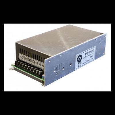 Alimentation LED 480w 12v 40A avec boitier en maille IP20 POS-500-12V