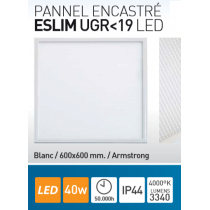 Dalle LED SLIM 40W Blanc Froid 4000K IP44