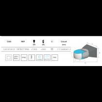 DETECT IP65 détecteur IR étanche IP65 mural 180° 12M 1200W max