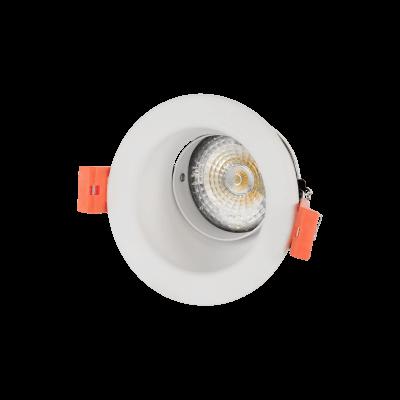 Fiale III Spot orientable blanc lampe GU10 avec douille inclus