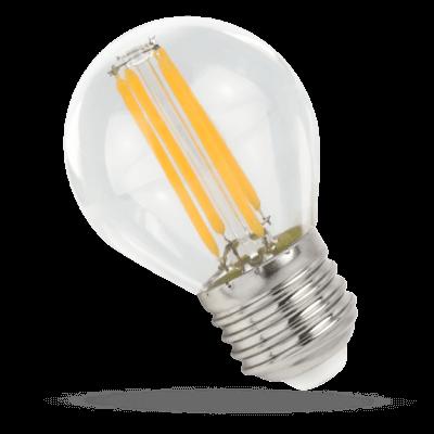 LED Filament E27 4W Blanc chaud Sphérique 500lm G45