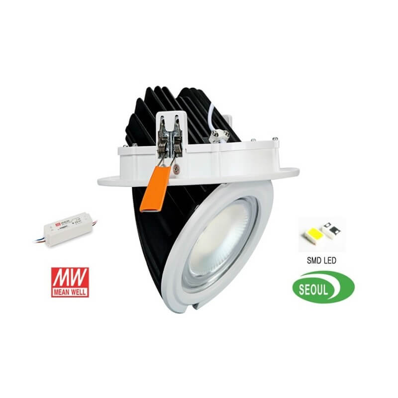 Plafonnier encastrable LED 40W orientable