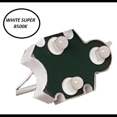 Chaine de 100 modules Trio-point Blanc 8500k WHITE SUPER  étanche IP65 12v