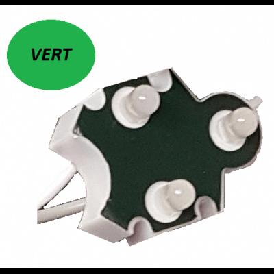 Chaine de 100 modules VERT Trio-point étanche IP65 12v 5mm
