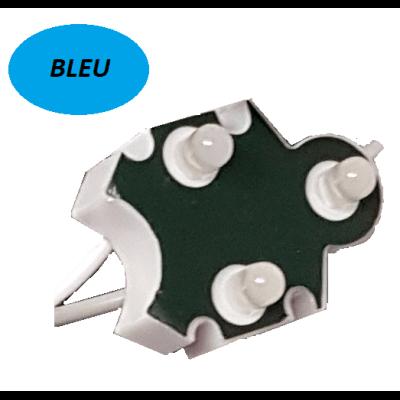 Chaine de 100 modules Bleu Trio-point étanche IP65 12v 5mm